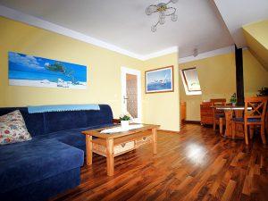 Ferienwohnung 50 Wohnzimmer